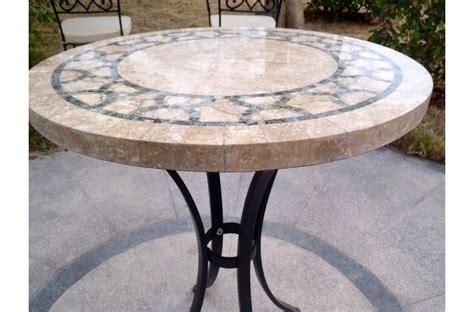 table ronde patio table ronde marbre indien mosa 239 que pour jardin et patio