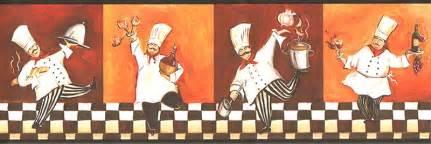 Italian Chef Kitchen Accessories - italian fat chef wallpaper border wt1086b cafe kitchen fat chef decor