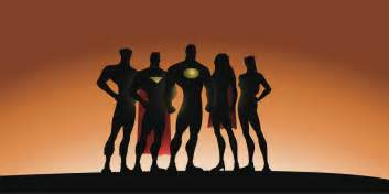 superhero team silhouette clip art pictures to pin on