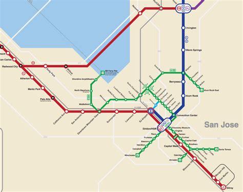 bart san jose extension map bay area 2050 the bart metro map future travel