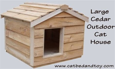 large outdoor house large cedar outdoor cat house