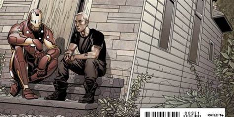 eminem punisher eminem teams up with iron man for mighty avengers