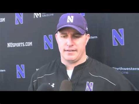 northwestern youtube northwestern football coach pat fitzgerald on the outback