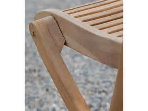 chaises de jardin pliantes en teck brut naturel par 2