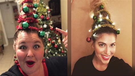 be the extra mom at the holiday party with christmas tree hair