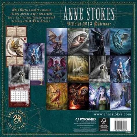 calendar 2013 anne stokes calendars 2018 on europosters