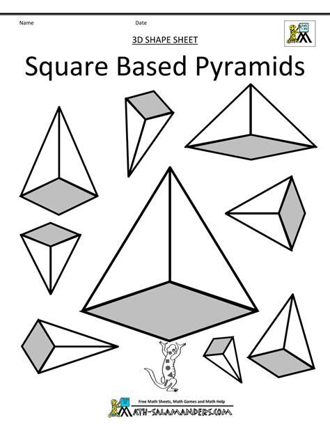 printable math worksheets volume of pyramid math pyramid worksheet b adding decimals riddle