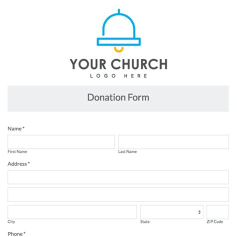 Printable Church Forms Pictures To Pin On Pinterest Pinsdaddy Church Donation Form Template