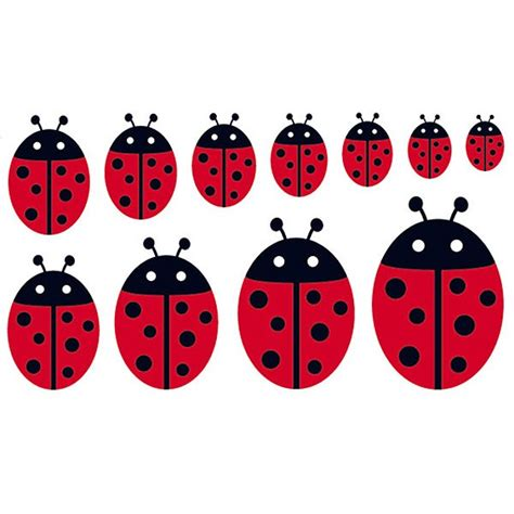 ladybird wall stickers family ladybird wall sticker set large children s wall decor