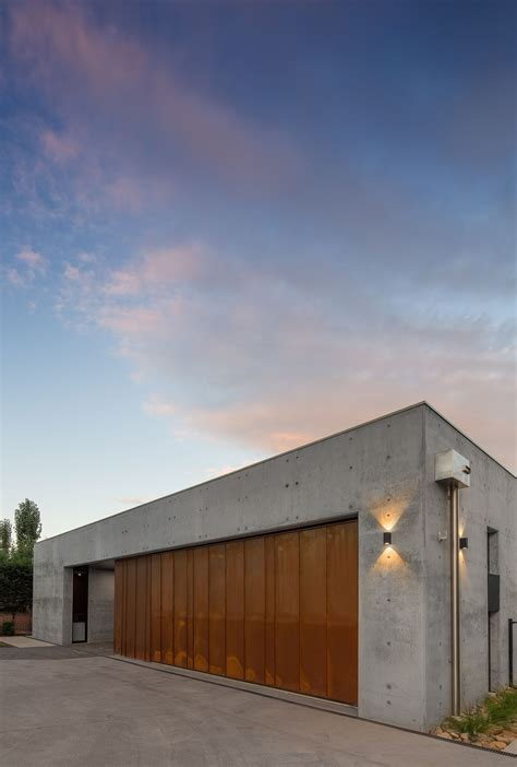 modern architecture  form concrete corten steel  collins caddaye architects photographed