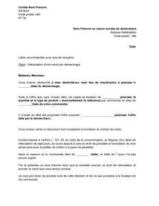 lettre de r 233 tractation d une vente par d 233 marchage mod 232 le