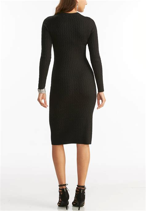 plus size knit dress cable knit midi sweater dress plus plus sizes cato fashions