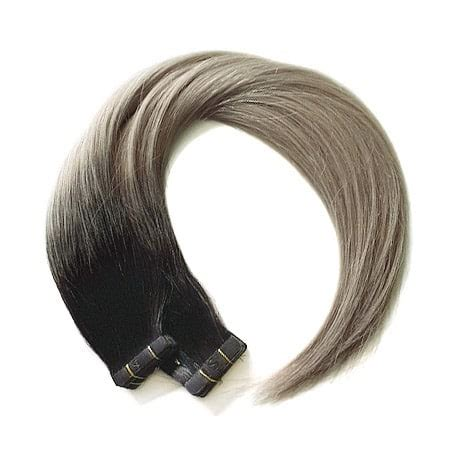 salt and pepper tape in hair extentions salt n pepper balayage colour ultimate 183 seamless1
