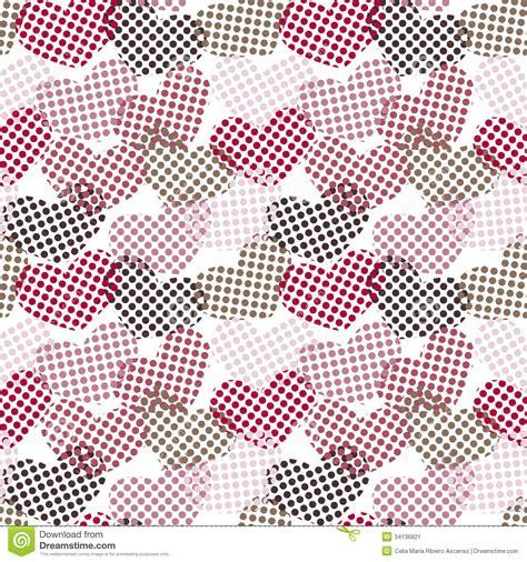 dot pattern wallpaper polka dot hearts seamless pattern stock illustration