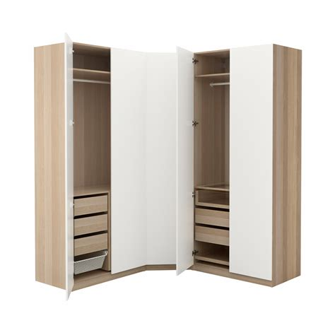 ikea armoire pax pax wardrobe white stained oak effect tanem white 196