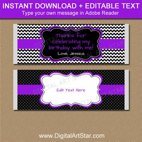 free birthday wrapper template purple chocolate bar wrapper www pixshark images