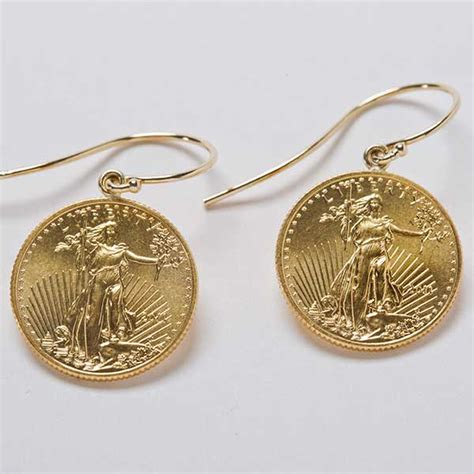 22k gold coin earrings california collectors