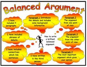 balanced argument success criteria poster mat
