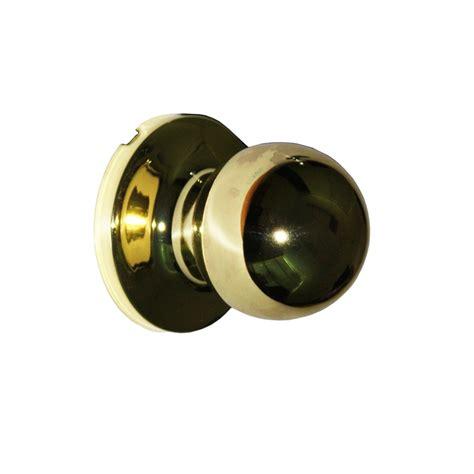 schlage door dummy knob regent denver polished brass