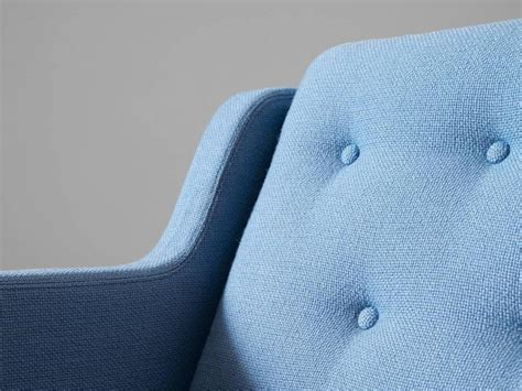 lounge upholstery fabric erik j 248 rgensen lounge chair in light blue fabric