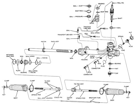 Rack And Pinion Rebuild Diagram ford rack and pinion diagram