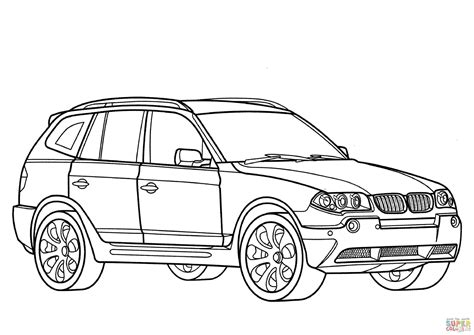 Auto Malen Bmw by Bmw X3 Coloring Page Free Printable Coloring Pages