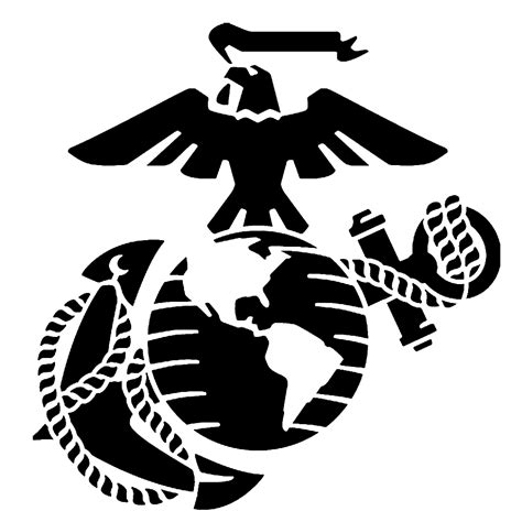 usmc marine corps eagle anchor globe stencil for painting the gallery for gt eagle globe and anchor pumpkin stencil