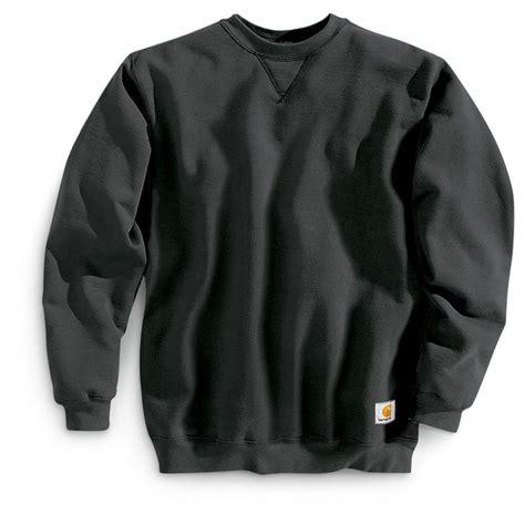Sweatshirt Workwear Black carhartt s midweight crewneck sweatshirt 108622 sweatshirts hoodies at sportsman s guide