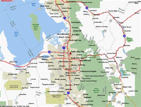 map world slc ut map of salt lake city ut