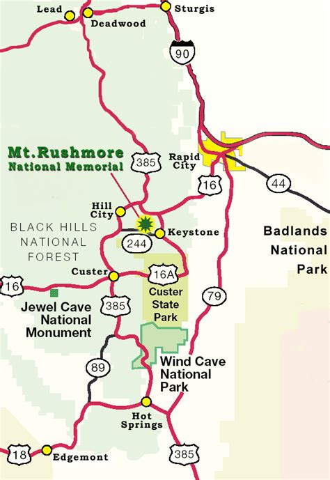 mt rushmore map mount rushmore information hours fees directions