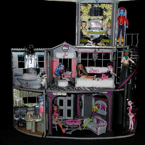 how to make monster high doll house my latest monster high custom made house with matching car man cave monster high