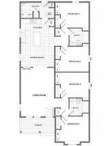 four bedroom house plans one story four bedroom house