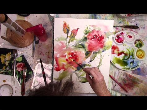 watercolor artist tutorial colleen reynolds painting loose and intuitively in