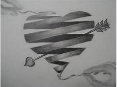 10+ Cool Heart Drawings for Inspiration - Hative Easy Drawings Of Hearts With Ribbons