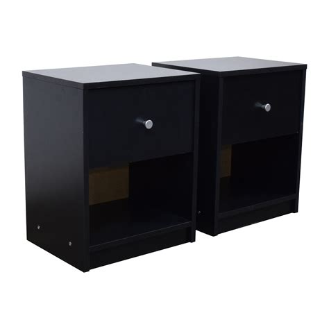 Black Nightstand With Drawers 79 Black Nightstands With Drawer And Shelf Tables