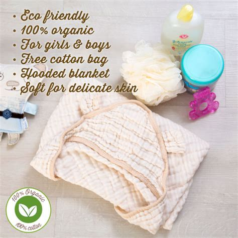 Raja 100 Organic Premium Cotton premium baby hooded bath towel 100 un dyed organic cotton muslin for boys and