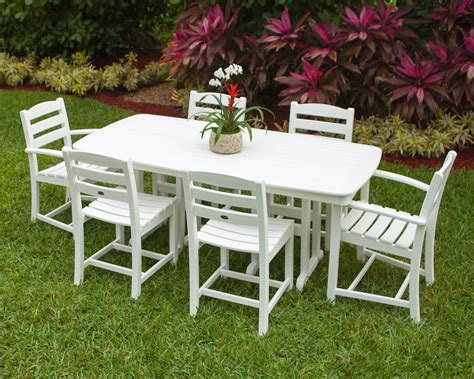 polywood la casa cafe  piece dining set dutchcrafters
