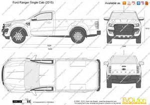 Ford Ranger Dimensions The Blueprints Vector Drawing Ford Ranger Single Cab