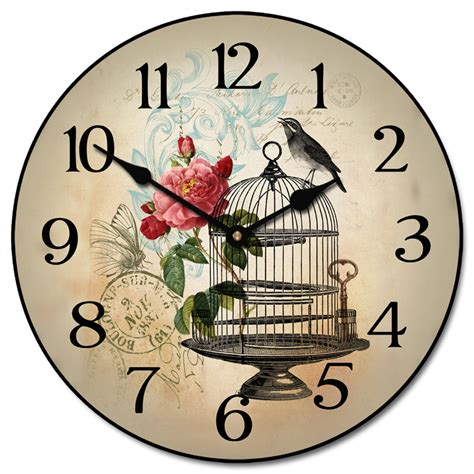 Bird Cage Wall Clock vintage bird cage wall clock rosenberryrooms