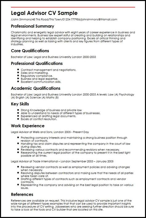 Best Resume Format For University Application by Legal Advisor Cv Sample Myperfectcv
