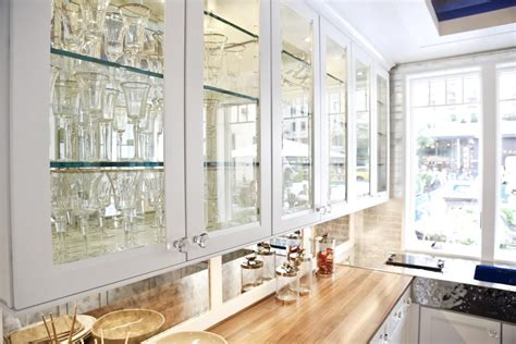 glass doors for kitchen cabinets with modern design home modern kitchen cabinets with glass doors smith design