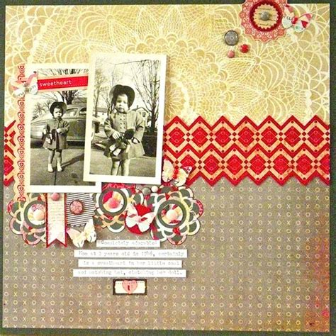 scrapbook layout four photos sue althouse uses bold colors and patterns on scrapbook