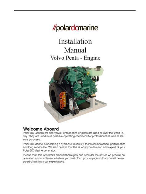 volvo penta installation manual engines cable
