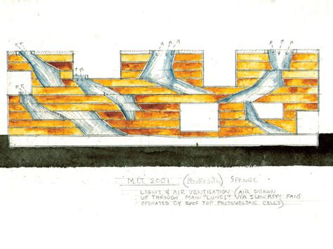 Section Diagram by Simmons At Mit Steven Holl Archdaily
