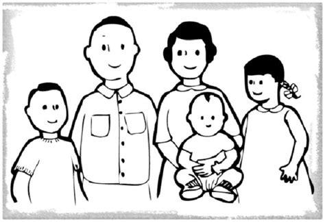 imagenes para pintar la familia dibujos de familia para colorear cool dibujo de una