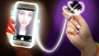 diy light up phone take the selfie