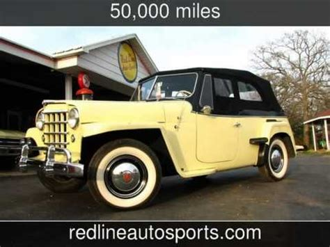 willys jeepster phaeton roadster flat head  cylinder  cars redlinemusclecarscom
