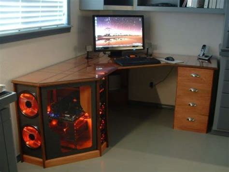 Desk With Computer Built In 1000 Images About Computer Desk On Pinterest Custom Desk Pc Gamer And Small Desks
