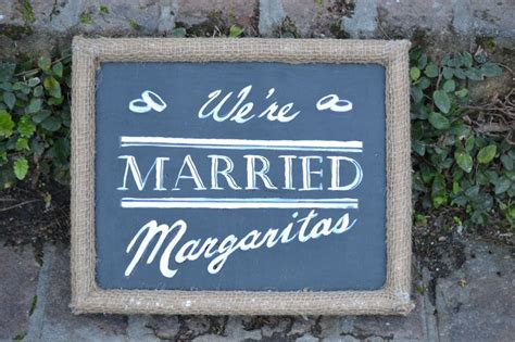 quot we re married margarits quot sign nautical wedding theme
