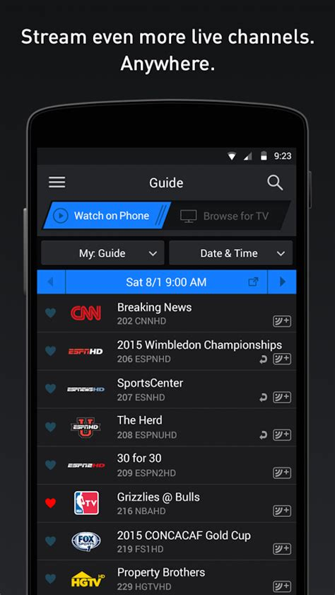 directv android app directv android app version 4 2 adds ui improvements espn